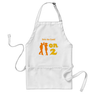 Salsa On Two Dancing Silhouettes Customizable Adult Apron