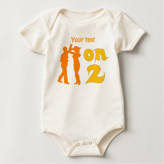 Salsa On Two Dancing Silhouettes Customizable Baby Bodysuit