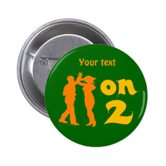 Salsa On Two Dancing Silhouettes Customizable Buttons