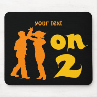 Salsa On Two Dancing Silhouettes Customizable Mouse Pad