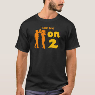 Salsa On Two Dancing Silhouettes Customizable T-Shirt