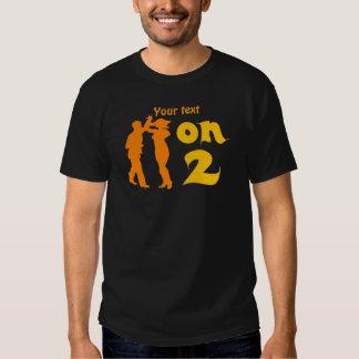 Salsa On Two Dancing Silhouettes Customizable Tee Shirts