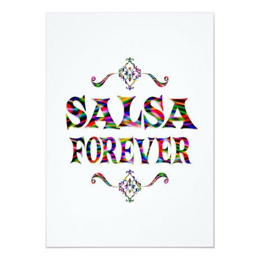 Salsa para siempre invitación 12,7 x 17,8 cm