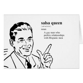 SALSA QUEEN CARD