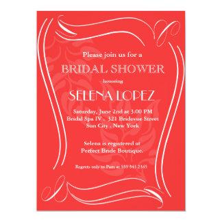 Salsa Red Bridal Shower invitations