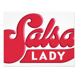 Salsa-Señora Invitacion Personalizada