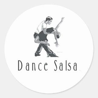 Salsa SUPERIOR de la danza Etiqueta Redonda