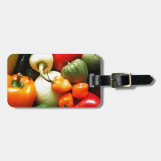 Salsa Vegetables, Tomato, Peppers, Onion Luggage Tag