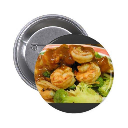 Salsas de Brocolli del camarón de Teriyaki Pin Redondo 5 Cm
