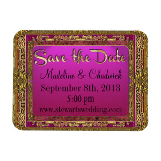 Salsbury Royale Save the Date Rectangular Photo Magnet
