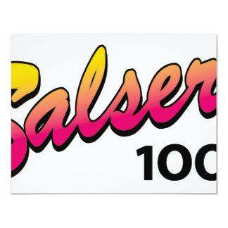 "Salsera-100 Invitación 4.25"" X 5.5"""