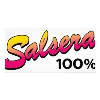 Salsera-100 Personalized Photo Card