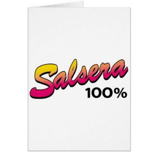 Salsera-100 Tarjeta De Felicitación