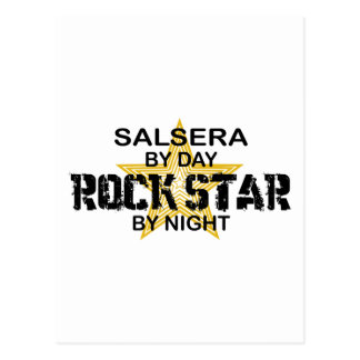 Salsera by Day, Rock Star by Night Postcard