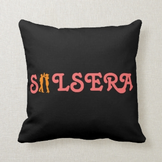 Salsera Female Latin Dancer Custom Throw Pillow