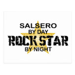 Salsero Rock Star by Night Post Card