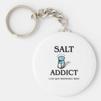 Salt Addict Basic Round Button Keychain