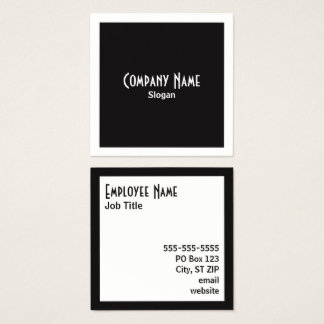Salt and Pepper Borders and Squares Square Business Card