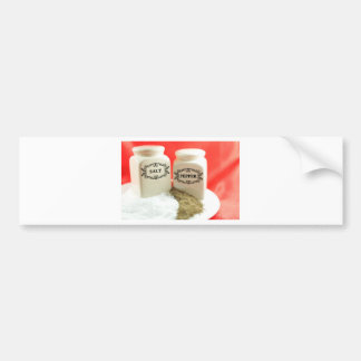 Salt and pepper bumper sticker