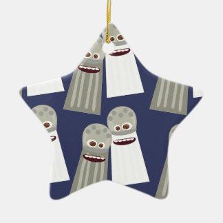 Salt and Pepper Cute Pattern Ceramic Ornament