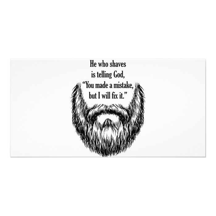 salt and pepper fuzzy beard card