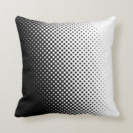 salt and pepper halftone pattern pillow