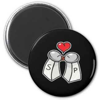 salt and pepper love 2 inch round magnet