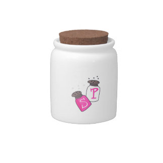 SALT AND PEPPER SHAKERS CANDY JARS