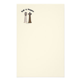 Salt and Pepper Shakers Dogs Stationery