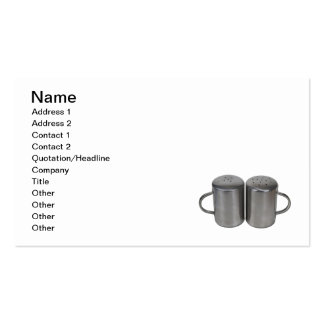 Salt and Pepper Shakers Double-Sided Standard Business Cards (Pack Of 100)
