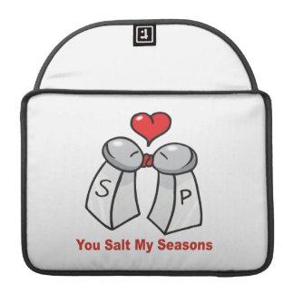 Salt and Pepper Shakers Valentine MacBook Pro Sleeves