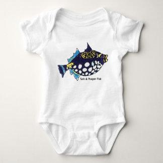 Salt and Pooper Fish Funny Baby Baby Bodysuit