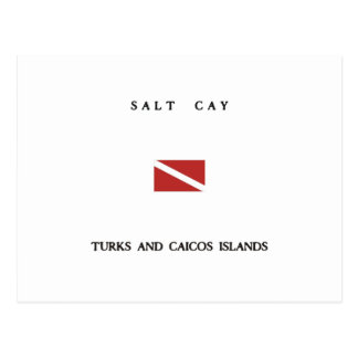 Salt Cay Turks and Caicos Islands Scuba Dive Flag Postcard