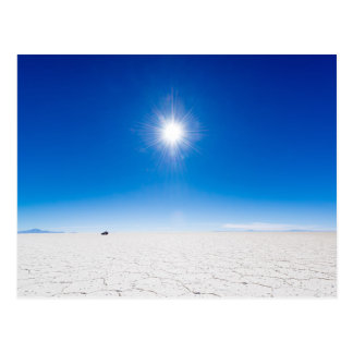 Salt flat of Uyuni, Bolivia Postcard
