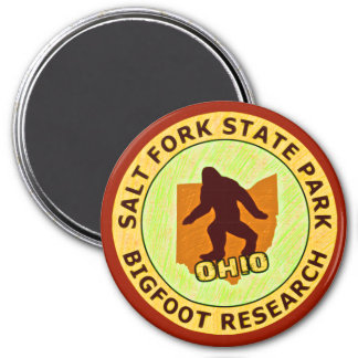Salt Fork State Park Bigfoot Research 3 Inch Round Magnet