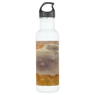Salt formations on the Dead Sea surface 24oz Water Bottle