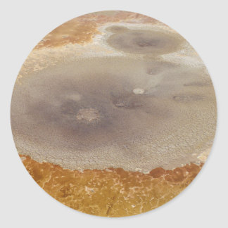 Salt formations on the Dead Sea surface Classic Round Sticker