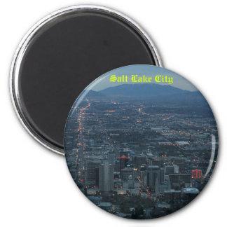 Salt Lake City 2 Inch Round Magnet