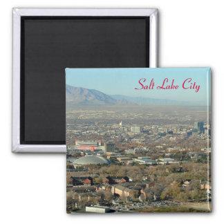 Salt Lake City 2 Inch Square Magnet