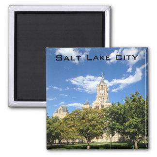 Salt Lake City - City Hall 2 Inch Square Magnet