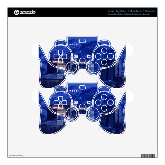 Salt Lake City Downtown Winter Skyline PS3 Controller Decals