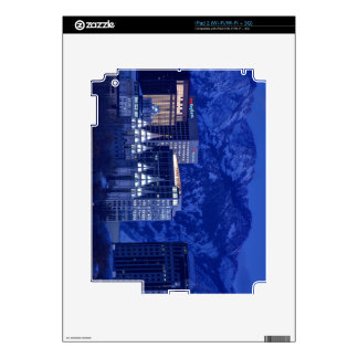 Salt Lake City Downtown Winter Skyline Skin For The iPad 2
