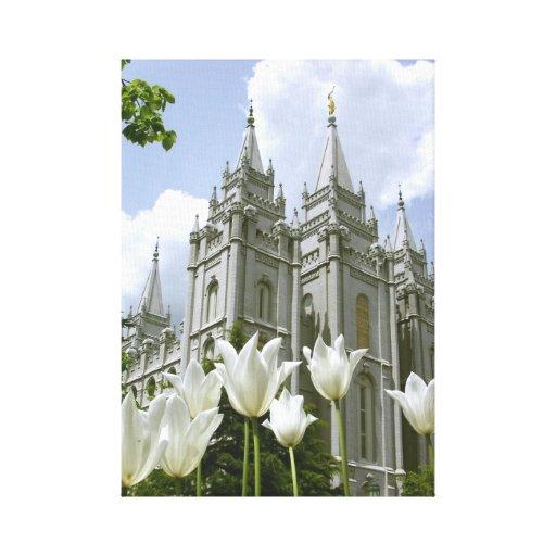 Salt Lake City Lds Temple Canvas Print Zazzle
