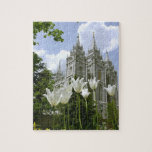 "Salt Lake City LDS Temple Jigsaw Puzzle<br><div class=""desc"">Great Spring time image of the LDS Temple in Salt Lake City Utah.</div>"