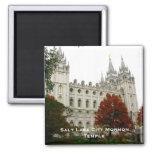 Salt Lake City Mormon Temple 2 Inch Square Magnet