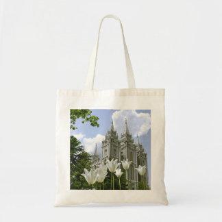Salt Lake City Mormon Temple Budget Tote Bag