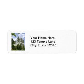 Salt Lake City Mormon Temple Label Return Address Label
