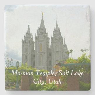Salt Lake City Mormon Temple Stone Coaster
