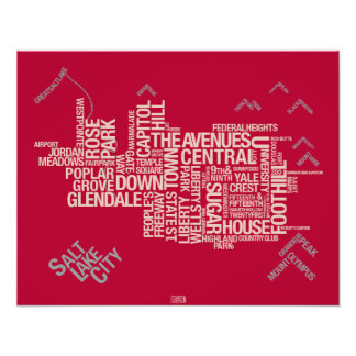 Salt Lake City Neighborhoods: Crimson Poster