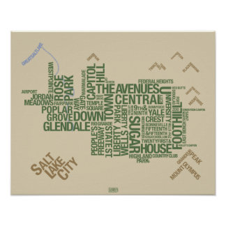 Salt Lake City Neighborhoods: Wasatch Green Poster